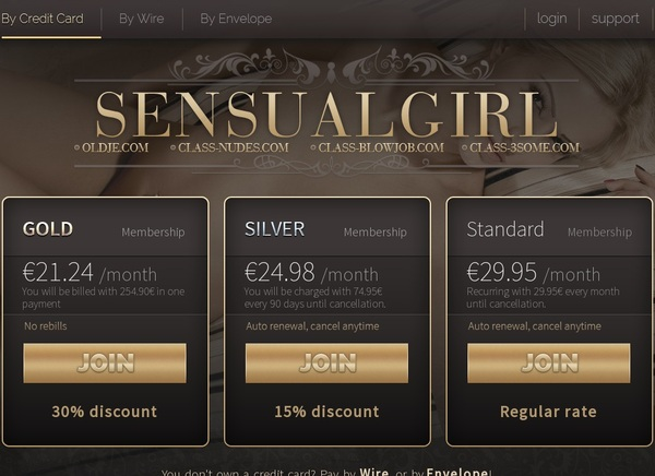 Working Sensualgirl.com Account